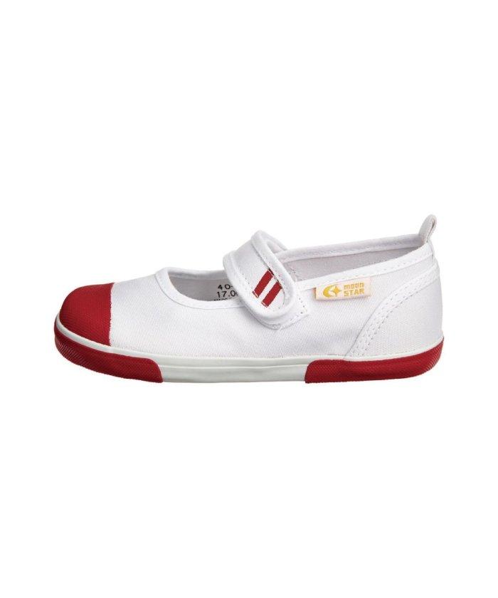 (moonstar/ムーンスター)ムーンスター キャロット 上履き 上靴 スクール 男の子 女の子 室内履き TKHS−CR13/キッズ レッド