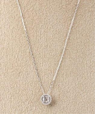 18KWG 0.1ct ダイヤモンド ミルネックレス
