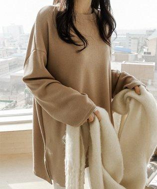 NANING9(ナンニング)起毛ボックスTシャツ