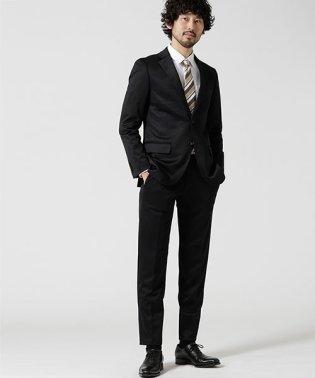 【WEB限定】スーツ+ジャージストレッチ+スリム+ブラック