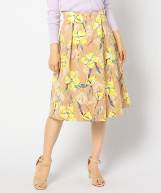 グログランフラワープリントスカート