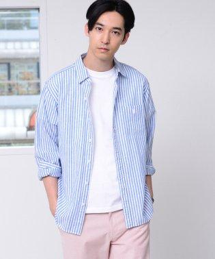 【GO OUT6月号掲載】綿麻ストライプレギュラーカラーシャツ