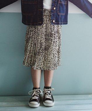 レオパード柄プリーツスカート(90~140cm)