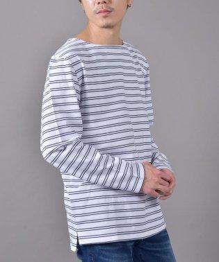 SHIPS JET BLUE: COOLMAX ボートネック ボーダーTシャツ