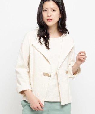 【洗える】リップルジャージジャケット