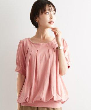カラバリ豊富な、大人可愛いデザイン!胸元タックパフスリーブ カットソー/トップス tシャツ Tシャツ カットソー パフスリーブ レディースふんわり袖 二の腕カバ