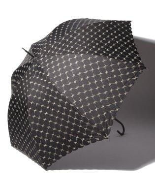 チェックリボン柄長傘 雨傘