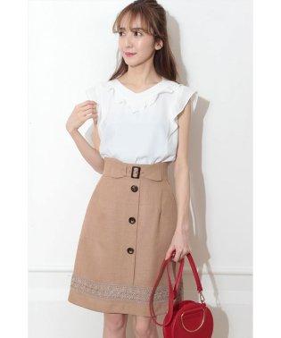 裾レースAラインスカート