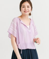 【SonnyLabel】楊柳刺繍半袖ブラウス