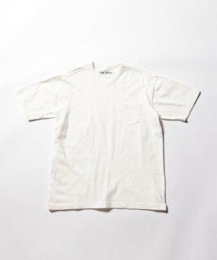 吊り編み天竺【LOOP WHEEL】 VネックTシャツ