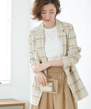 【WEB限定】綿麻チェックジャケット