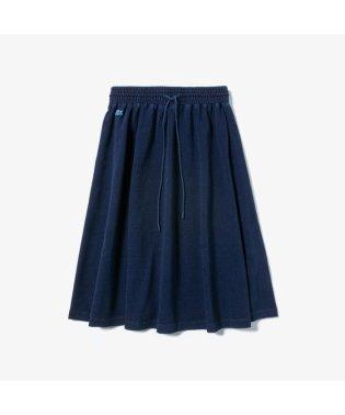 インディゴ鹿の子地ギャザースカート
