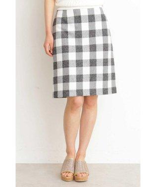 ギンガムチェックリボンタイトスカート