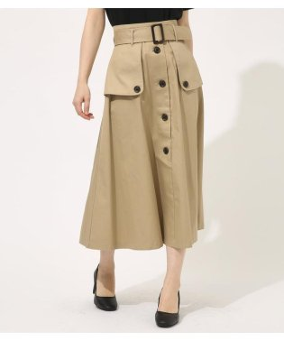 TRENCH FLARE SKIRT