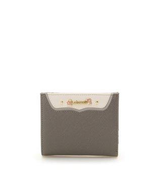 フラワーロゴ金具ミニ財布
