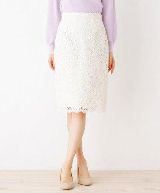 【洗濯機洗いOK】レースミモレタイトスカート