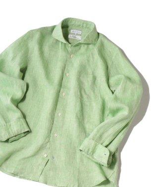 SHIPS JET BLUE: L.B.N. リネン セミワイドカラーシャツ