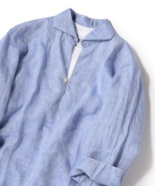 SHIPS JET BLUE: L.B.N.リネンカプリ 七分袖シャツ