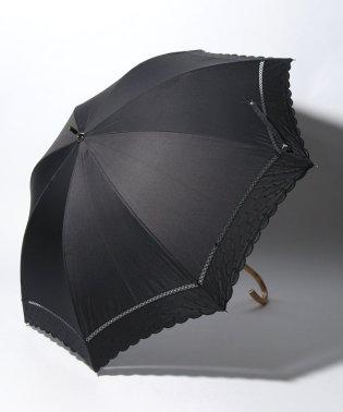 スカラップドット刺繍晴雨兼用長傘 日傘