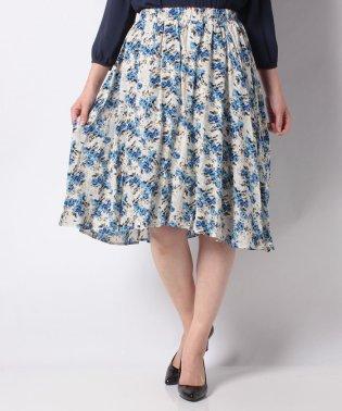 バラ柄フィッシュテールスカート