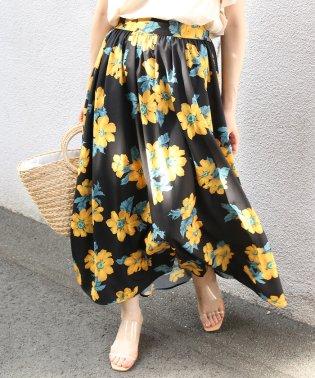【WEB限定】花柄マキシスカート