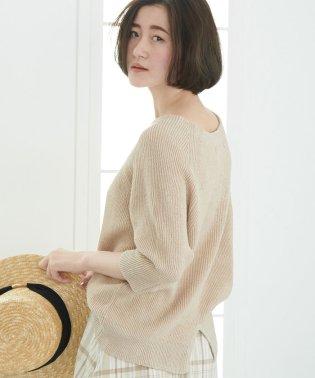 【WEB限定】リネンあぜ編みプルオーバー