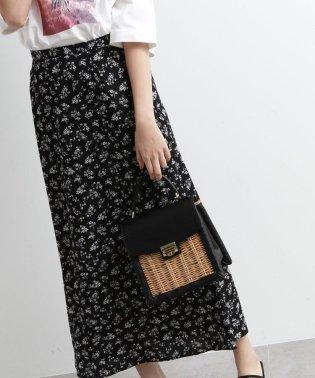 [洗える]花柄ナローマキシスカート