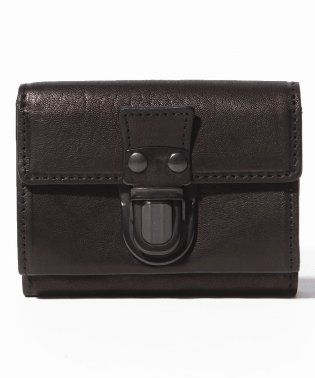 Leather trifold wallet 'cartable'