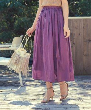 コットンボイルボリュームスカート