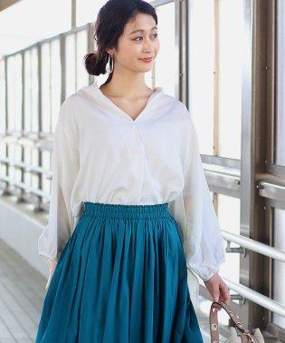◆ビッグシルエットが可愛い◆抜け衿ゆるカラービッグシャツ