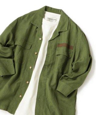 SHIPS JET BLUE: L.B.N.リネン ミリタリー七分袖シャツ