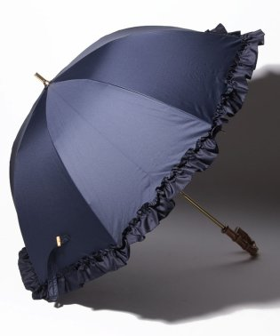 完全遮光 晴雨兼用 長傘 フリル 遮光率100% 遮蔽率100% 1級遮光 遮熱 軽量 UVカット
