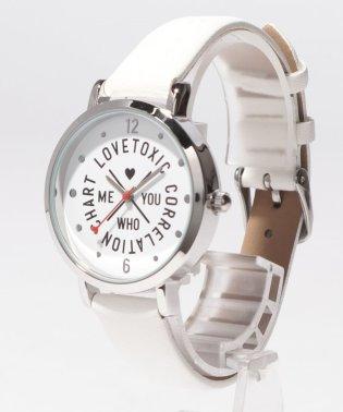 ロゴ型押し腕時計