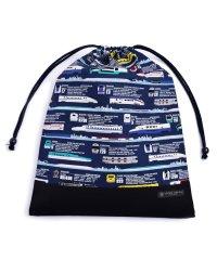 【通園・通学】巾着 大 体操服袋(ネームタグ付き) JR公認:出発進行スーパーエクスプレス