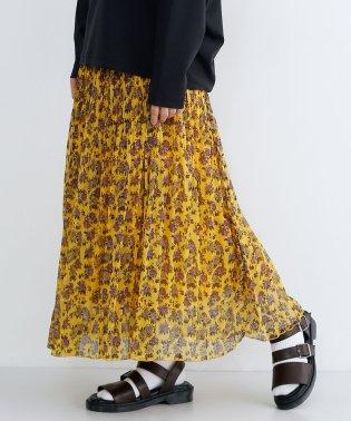 フラワーシフォンプリーツスカート