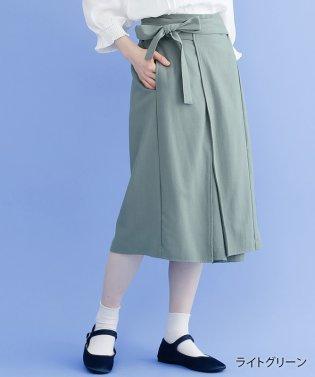 リネンミックスラップスカート