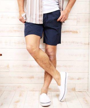 ナイロンワッシャーベイカーショーツ / ハーフパンツ メンズ ショートパンツ 短パン 膝上 おしゃれ ボトムス