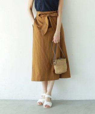 【『リンネル』6月号掲載】綿麻リボンタックイージースカート