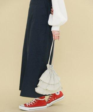 【KBF】フリルプリーツ巾着BAG