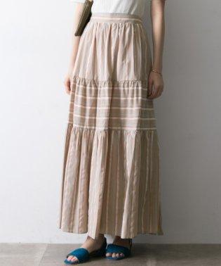 【UR】マルチストライプロングスカート