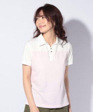 チュールレースのポロシャツ