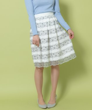 ★日本製★花柄レーススカート