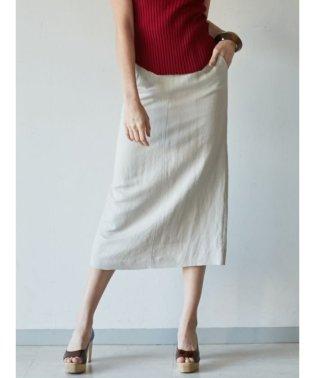 ボタンスリットLinenタイトスカート