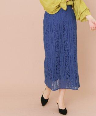 【KBF+】カラーレースロングスカート