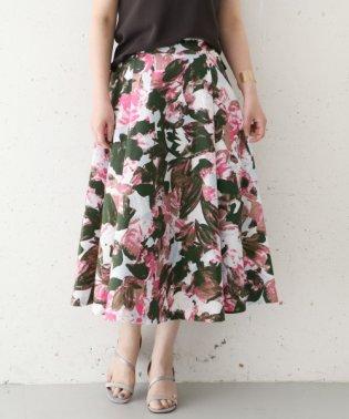 【ROSSO】フラワープリントスカート