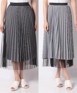 【SENSEOFPLACE】ギンガムチェックリバーシブルスカート