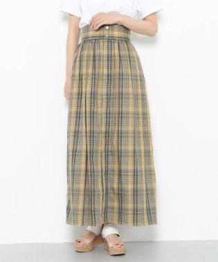【SENSEOFPLACE】マドラスチェックマキシスカート