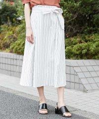 【洗える】ドライオックスストライプフレアスカート