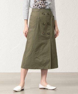 【ウォッシャブル】【店舗限定】コットンヘリンボーンスカート