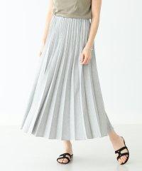 Demi-Luxe BEAMS / リネンライク プリーツスカート